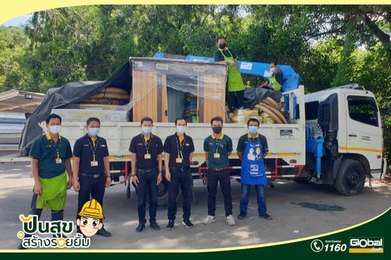 โกลบอลเฮ้าส์ สาขาร้อยเอ็ด ร่วมบริจาคสินค้าเพื่อใช้ในงานต่อเติม ก่อสร้างศาลาธรรมสังเวช ให้แก่ วัดโนนสะอาดบ้านสำโรง